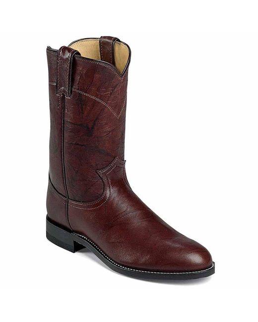 Justin Boots - 10inch Dark Brown Marbled Deerlite Roper for Men - Lyst