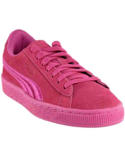 1a99cd77cd0 Women's Pink Suede Classic Badge Junior