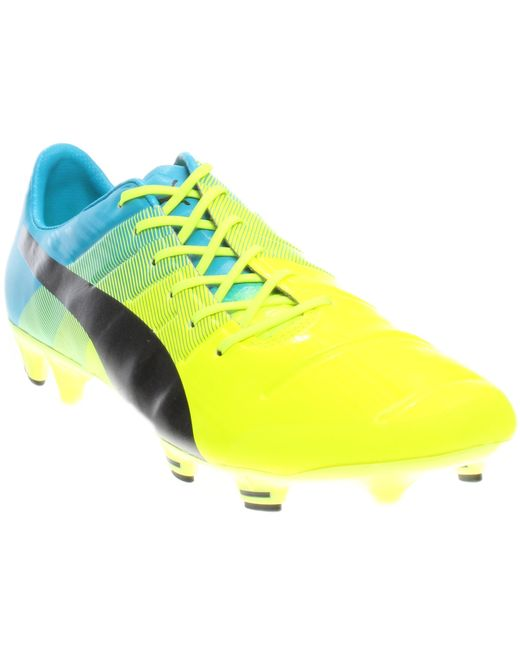 PUMA - Yellow Evopower 1.3 Firm Ground Cleats for Men - Lyst