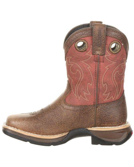 454769d7cd395 ... Durango - Brown Lil' Rebel By Little Kids' Waterproof Western Saddle  Boot for Men ...