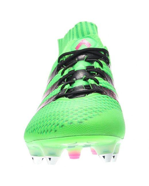 best sneakers 9fecf f4213 Men's Green Ace 16.1 Primeknit Sg