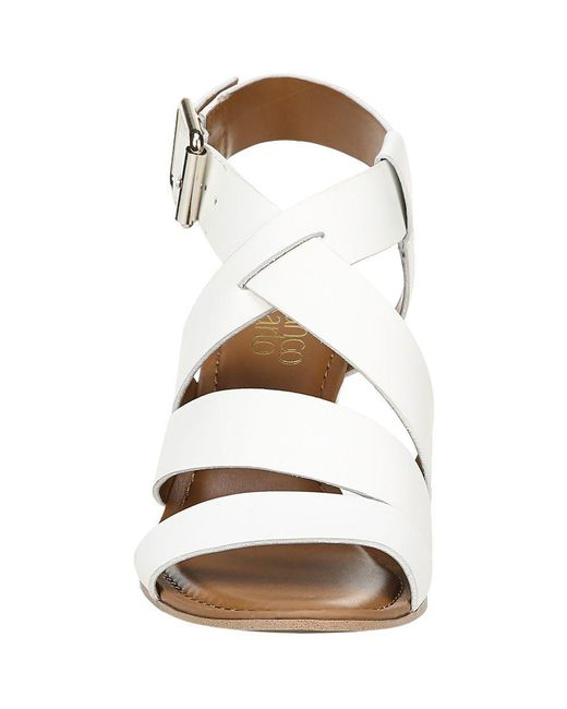 5ae264ded53 Lyst - Franco Sarto Yara Wedge Sandals in White - Save 1%