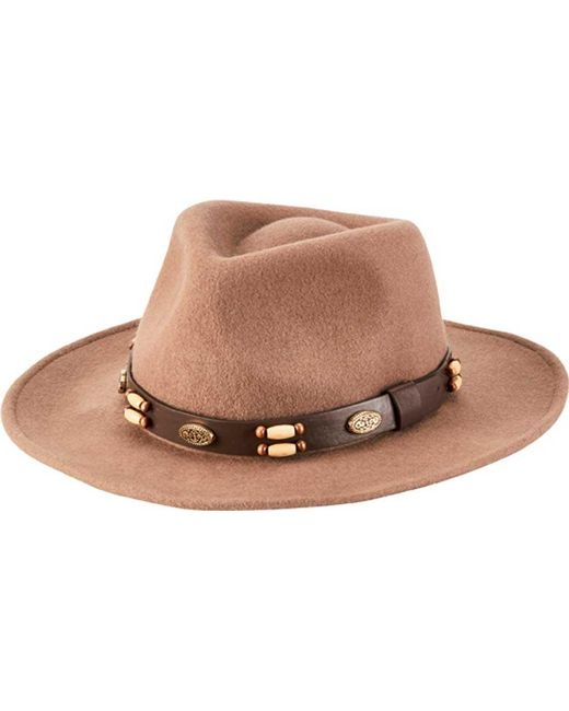 San Diego Hat Company - Brown Beaded Band Wool Felt Fedora Wfh1205 for Men  - Lyst 92413a8045a1