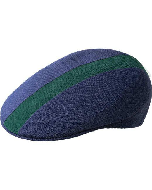 e5d74a8230b Lyst - Kangol Path Stripe 504 Flat Cap in Blue for Men