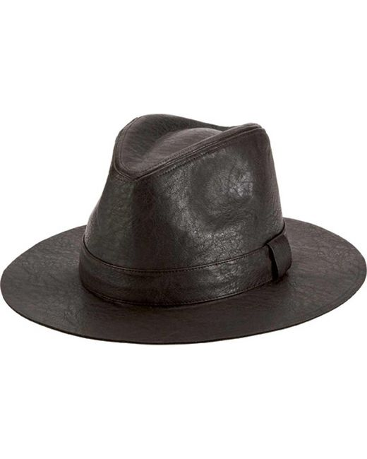 bfdb87b88e4 San Diego Hat Company - Brown Faux Leather Fedora Cth1504 for Men - Lyst