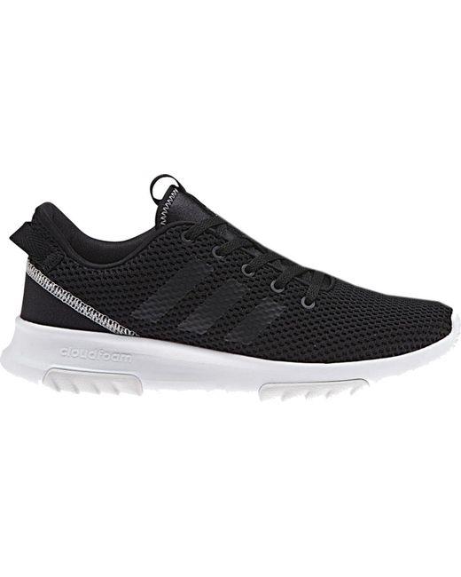 lyst adidas neo cloudfoam racer tr scarpa da corsa in nero per gli uomini.