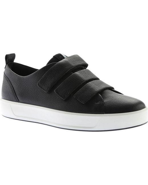 Ecco - Black Soft 8 3-strap Sneaker for Men - Lyst ...