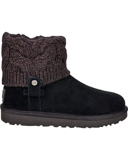 ugg saela sweater boot in black lyst