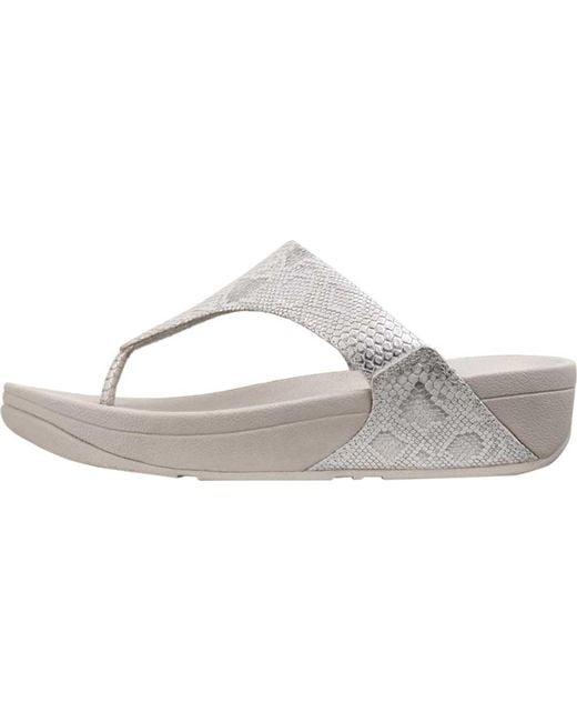 61f1649d91fc ... Fitflop - White Lulu Thong Sandal - Lyst ...