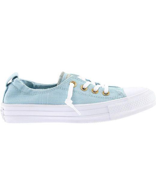 67aa3e72858f9f ... Converse - Blue Chuck Taylor All Star Shoreline Sneaker - Lyst ...