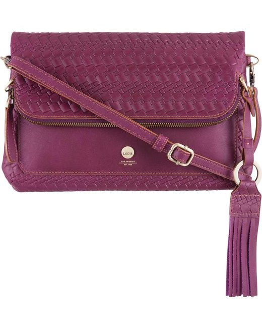 Lodis - Purple Women's Rodeo Woven Rfid Aphra Zip Flap Crossbody - Lyst