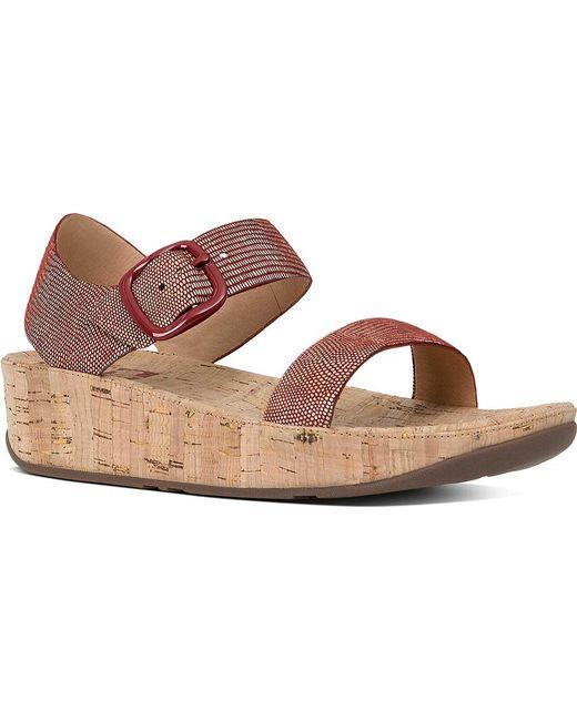 Fitflop | Multicolor Bon Backstrap Wedge Sandal | Lyst