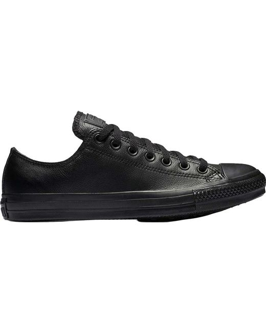 60c4b012fd05 Converse - Black Chuck Taylor All Star Low Leather Sneaker for Men - Lyst  ...