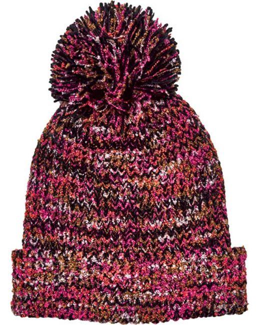 San Diego Hat Company - Red Multi Yarn Cuff Beanie With Pom Knh3603 - Lyst