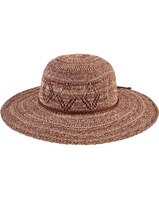 San Diego Hat Company - Brown Marled Knit Floppy Hat Cth8080 - Lyst