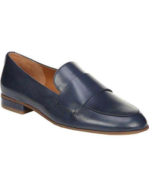 Sarto - Blue Kip Loafer - Lyst