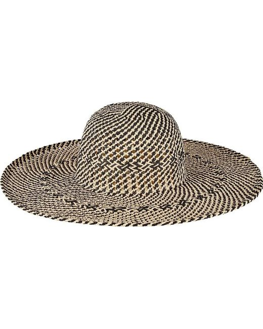 9077814e236 San Diego Hat Company - Black Open Weave Round Crown Floppy Hat Pbl3080 -  Lyst