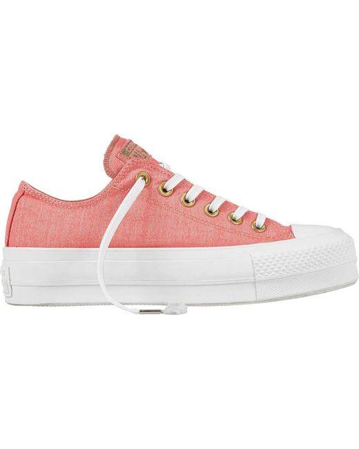 Converse - Pink Chuck Taylor All Star Lift Platform Sneaker - Lyst ... 4edcd0cea