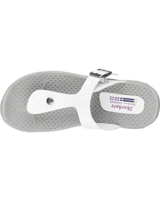 8ce03c24fb45 Lyst - Skechers Reggae Key West Thong Sandal in White - Save 58%