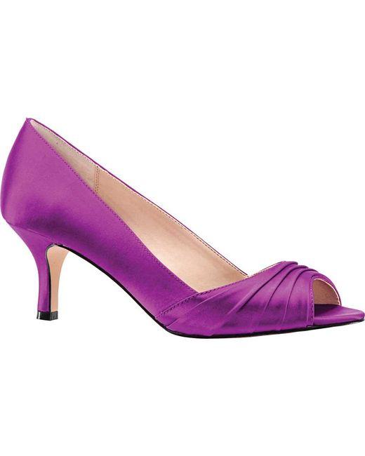 151687bae2ed Nina - Purple Chezare Open-toe Pump - Lyst ...