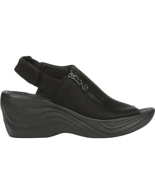 57ae727faacd Lyst - Bzees Zipline Wedge Sandal in Black - Save 1.3513513513513544%