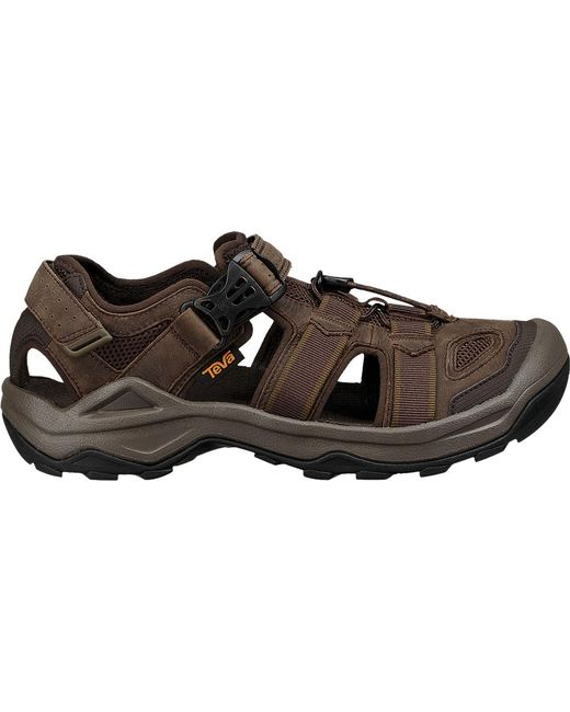 f93b4de9d75aa6 ... Teva - Brown Omnium 2 Leather Walking Sandal for Men - Lyst ...