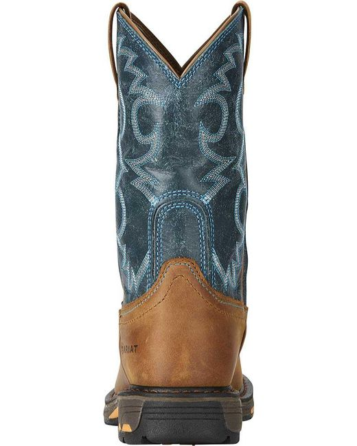 13e5157fbcc Lyst - Ariat Workhog Pull-on H2o Cowgirl Boot in Blue