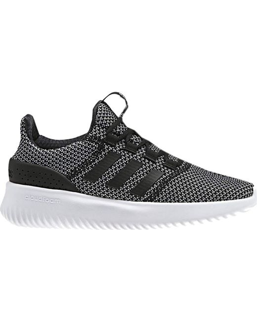 new concept 38b86 11596 Adidas - Black Neo Cloudfoam Ultimate Running Shoe for Men - Lyst ...