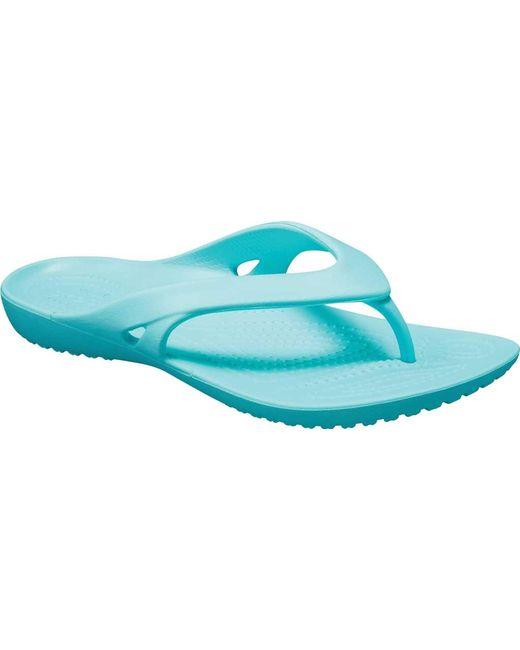 6b9f21f97e2f1 Crocs™ - Blue Kadee Ii Flip Flop Sandal - Lyst ...
