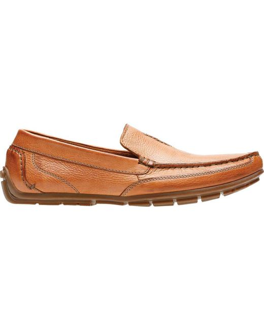 1b081895b ... Clarks - Brown Benero Race Loafer for Men - Lyst ...