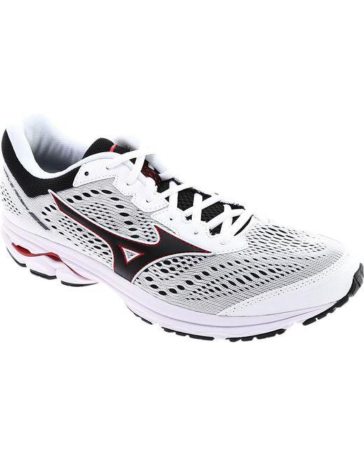 62969e16e297 ... discount mizuno white wave rider 22 running shoe for men lyst 6adfc  65fb1