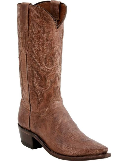 Lucchese Bootmaker - Brown Lewis 5 Toe Cowboy Boot for Men - Lyst
