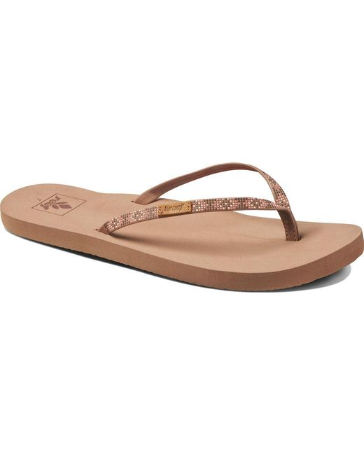 Reef - Brown Slim Ginger Beads Thong Sandal - Lyst