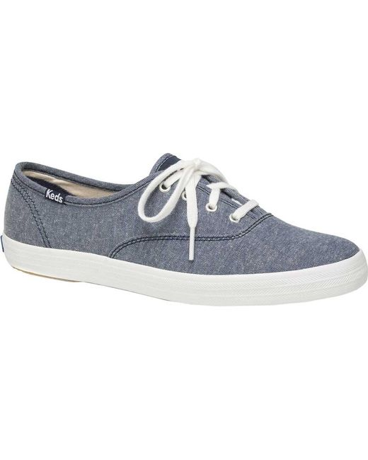 0700520671ffc8 Lyst - Keds Champion Oxford Canvas Sneaker in Blue