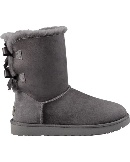 10fb31b8c29 Lyst - UGG Bailey Bow Ii Boots in Gray