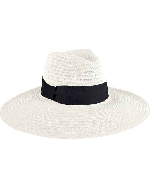 San Diego Hat Company - White Ultrabraid Fedora Knotted Grosgrain Ubl6494 - Lyst