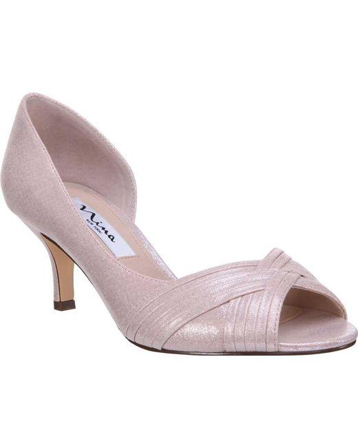 Nina - Pink Contesa Peep Toe Pump - Lyst