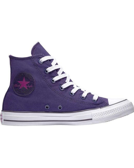 Converse - Purple Unisex Adults  Chuck Taylor All Star Hi-top Trainers for  Men ... 118b4e267