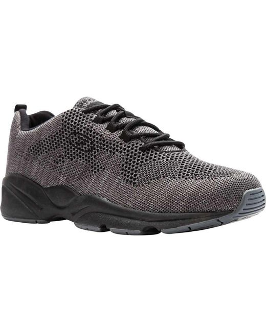 Propet Stability Fly Sneaker(Men's) -Grey/Light Grey Mesh Discount For Cheap Clearance Best Sale Reliable Cheap Online 07uuRCsc6d