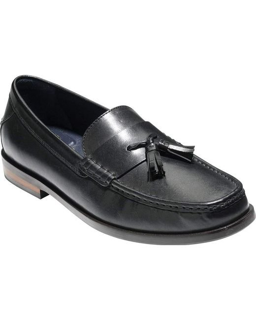 5e5b63f2011 Cole Haan - Black Pinch Friday Tassel Contemporary Loafer for Men - Lyst ...