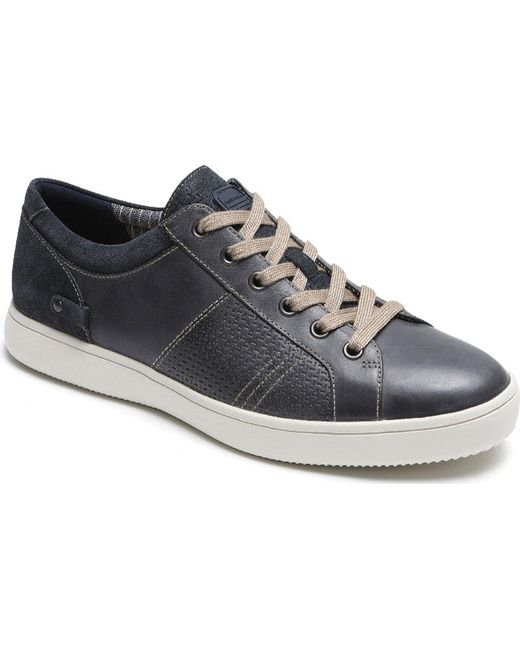 689e65778df1a2 Rockport - Gray Colle Tie Sneaker for Men - Lyst ...
