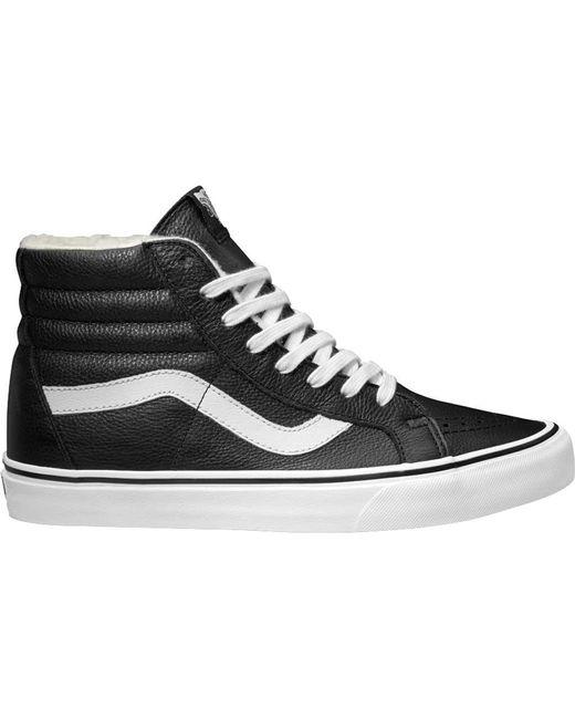 a327827fdba Vans - Black Premium Leather Sk8-hi Reissue High Top for Men - Lyst ...