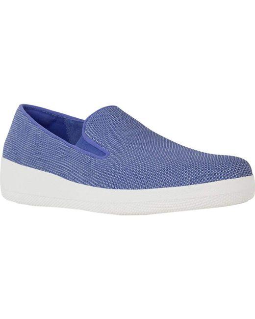 Fitflop - Blue Uberknit Superskate Loafer - Lyst