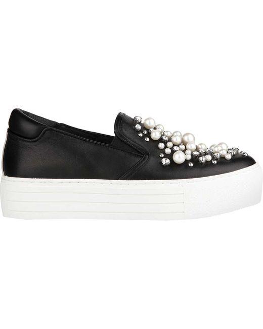 Kenneth Cole - Black Ashby Pearl Platform Sneaker - Lyst