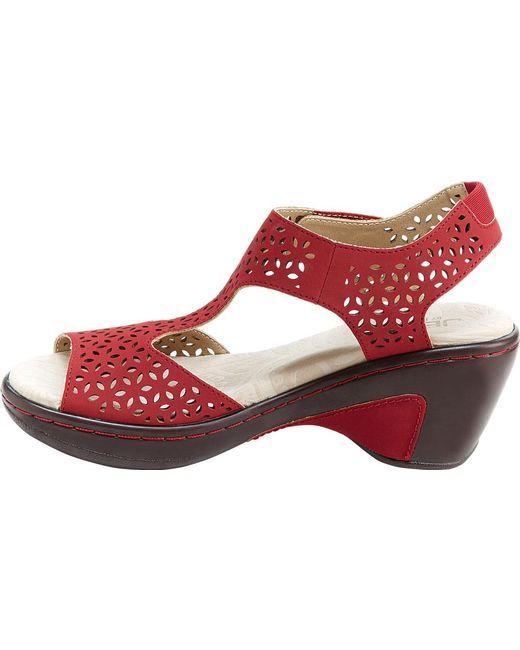 95fadc62a2 ... Jambu - Red Jbu Chloe Peep Toe T Strap Vegan Sandal - Lyst ...