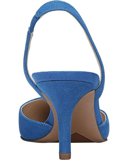 602d5190a78 Lyst - Franco Sarto Tokyo Suede Sling Pumps in Blue - Save ...
