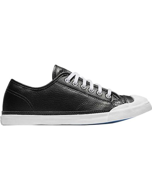 952590936846fe Converse - Black Jack Purcell Lp Metallic Leather Ox Sneaker for Men - Lyst  ...