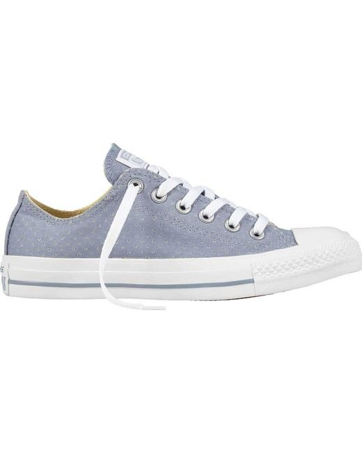 cb31d0bd725da2 Lyst - Converse Chuck Taylor All Star Ox Perf Low Sneaker in White