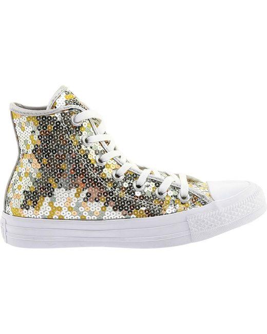 1216a6584823 ... Converse - Metallic Chuck Taylor All Star High Top Sneaker - Lyst ...