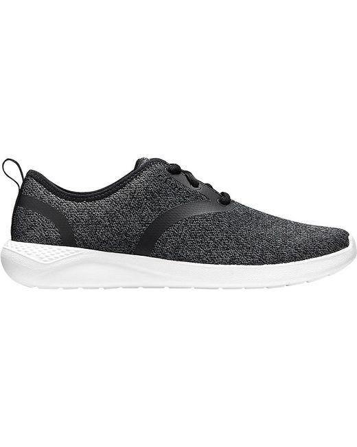 746b6ab705cf ... Crocs™ - Black Literide Lace-up Sneaker for Men - Lyst ...